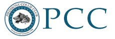 PCC logo with black and white collie heads.