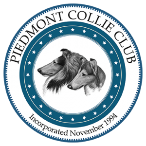 Large PCC logo with black and white collie heads.